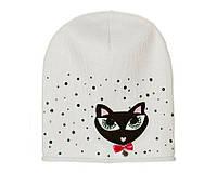 Детский модний демисезонный комплект шапка и снуд для девочки Светло-серый, 49-56