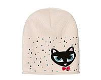 Детский модний демисезонный комплект шапка и снуд для девочки Светло-нежно-розовый, 49-56