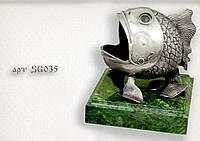 """Серебряная статуэтка  """"Чудо-Рыба"""""""