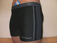 Плавки-шорты мужские Atlantis черный с серым