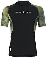 Мужская лайкровая футболка для плавания с уф защитой AquaLung Galaxy Camo; короткий рукав