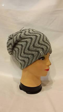Двхсторонняя шапка Эльзас 4411 темно-серый и светлосерый, фото 2