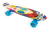 Penny Board Модница 22″ Голубые Колеса / пенниборд скейт (пенни борд), скейтборд