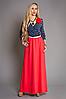 Нарядное платье с розой мод 460, , размеры 42-44,44-46,46-48