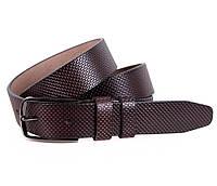 Мужской классический кожаный ремень 3,2 см коричневый
