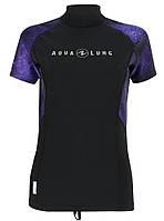 Женская лайкровая гидромайка AquaLung Galaxy Purple; короткий рукав