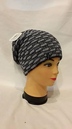 Двхсторонняя шапка Березка 4413 черный плюс белый, фото 2