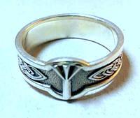 """Серебряное кольцо с руной  """" Альгиз """""""
