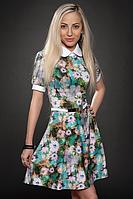 Платье молодежное 429-1, бирюза, размеры 44,46,48, фото 1