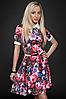 Платье молодежное 429-2, малина, размеры 44,46,48