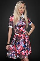 Платье молодежное 429-2, малина, размеры 44,46,48, фото 1