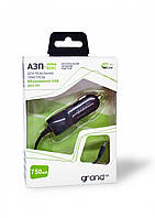 Автомобильная зарядка Grand (с USB вых) Nokia тонкая 12V длинная+витой провод 750А