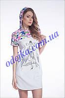 Домашнее платье, сорочка женская LND 027/001 (ELLEN). Коллекция весна-лето 2017! Спешите быть первыми!