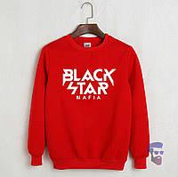Свитшот мужской красный Black Star Mafia Блек Стар