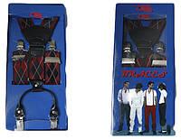 Подтяжки мужские для брюк в ромбик LM638