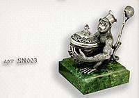 """Серебряная статуэтка  """"Обезьянка"""""""