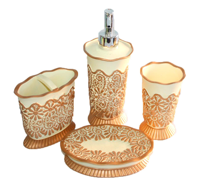 Набор аксессуаров для ванной комнаты - 4 предмета  - Amadeo в Одессе