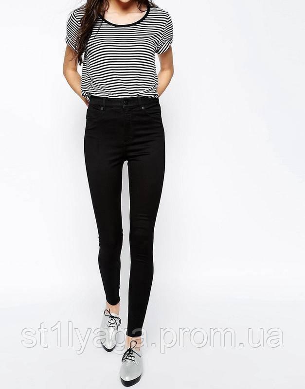 3d582f2010a Узкие женские джинсы HEPYEK с высокой посадкой черные   продажа ...