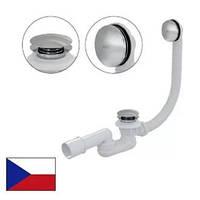 Сифон для ванны click-clack, металлический Alcaplast A507KM