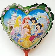 Шарики воздушные, фольгированные на палочке в форме сердца