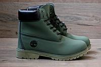 Ботинки мужские Timberland 2054 темно-зеленые