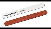 Пилочка минеральная Kodi White/Brown прямая 180/240