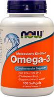 NOW OMEGA 3 (100 капсул)  Рыбий жир -концентрат в капсулах по 1000 мг