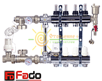 Коллектор для теплого пола FADO на 7 контуров