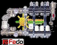 Коллектор для теплого пола FADO на 9 контуров