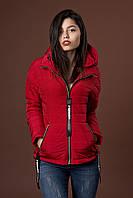 Женская молодежная демисезонная куртка. Код модели К-91-38-17. Цвет яркий винный.