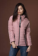 Женская молодежная демисезонная куртка. Код модели К-91-38-17. Цвет пудровый.