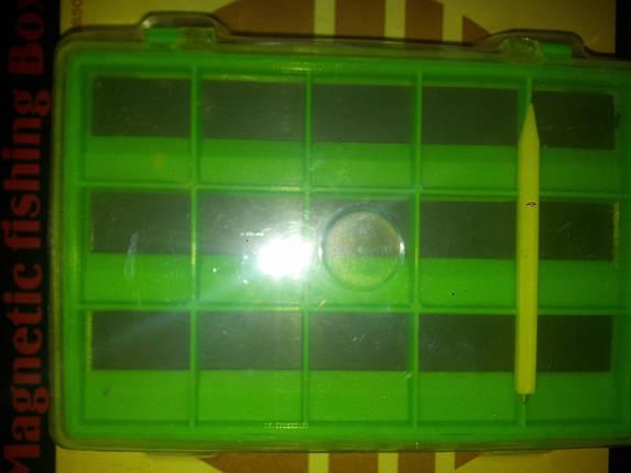 Коробочка двойная для крючков Takara\Magnetic fishing Box HW-L014B, фото 2