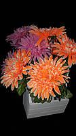 Большие искусственные хризантемы, выс. 58 см., 10 шт., 48.60 гр./шт.
