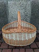 Плетеная корзина из цельной лозы, фото 1
