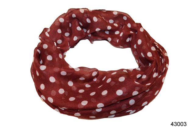 Весенний шарф снуд Алира бордовый 2