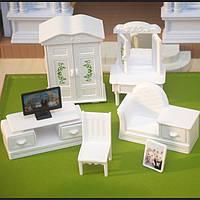 Набор белой мебели для гостинной Happy family