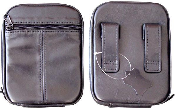 Кобура-сумка кожаная поясная