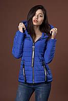 Женская молодежная демисезонная куртка. Код модели К-91-38-17. Цвет электрик.