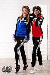 Спортивный костюм  Ткань : турецкая двух нитка высокого качества  Цвет: комбинация черный с электриком и комбинация черным с красным  Размер : 42, 44,