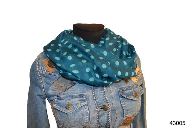 Весенний шарф снуд Алира бирюзовый 1