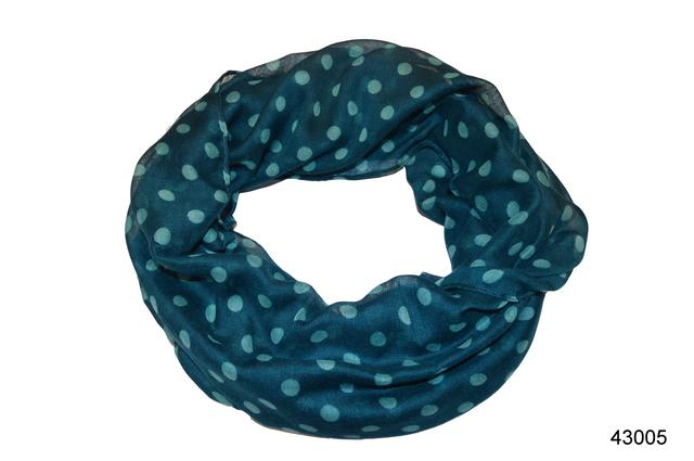 Весенний шарф снуд Алира бирюзовый 2