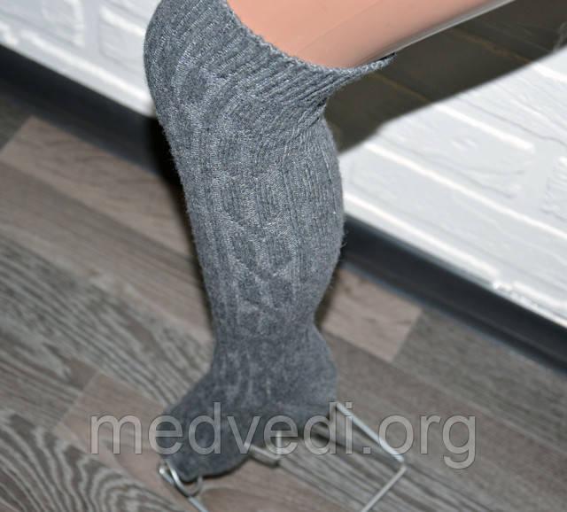 Серые женские гетры до колена