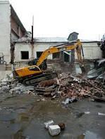 Демонтаж, снос домов, строений, бетона, конструкций
