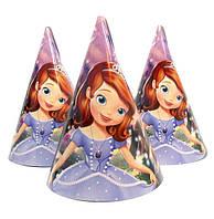 """Ковпачки святкові """"Принцеса Софія"""". Розмір: 16 см"""