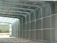 Ангар прямостінний,арочный на металлокаркасе