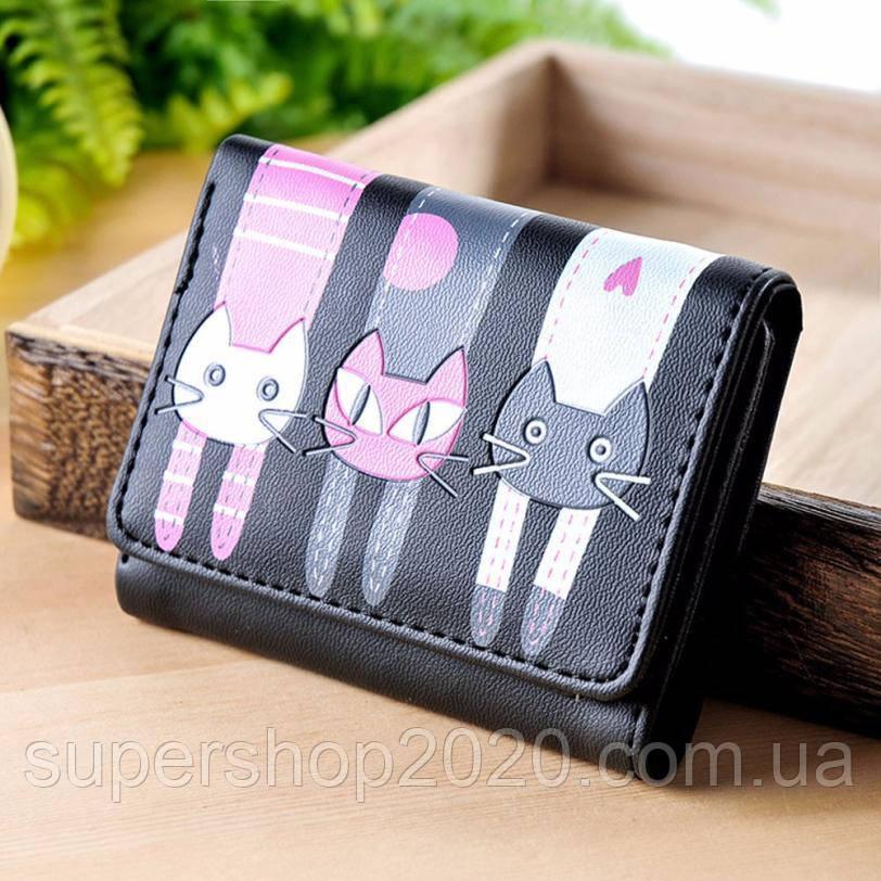 Женский кошелек  Little Cats Black