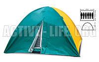 Палатка кемпинговая 4+2 местная с тентом SY-021 (рр 2,2х2,5х1,5м)