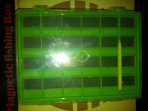 Коробочка двойная для крючков Takara\Magnetic fishing Box HW-L014A, фото 2