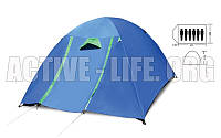 Палатка кемпинговая 4+2 местная с тентом и коридором  (рр 2,2х2,5х1,5м, PL)