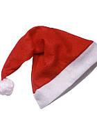 Новогодняя шапка Деда Мороза тонкая 1901